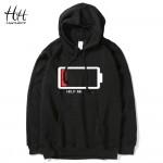 HanHent HELP ME Energy Low Hoodies Men Hip Hop Streetwear Printed Sweatshirts Male Fashion Creative Funny Hoodie Boys Plus Size