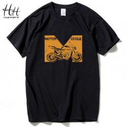 HanHent Summer Men Cotton Clothing Motorcycle Print T-shirts Camisetas t shirt Fitness tops Tees Skateboard mens t-shirts TH5267
