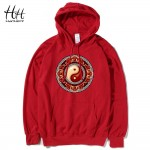 HanHent Tai Chi Thin Sweatshirts Men Hoodies Chinese Style Spring Autumn New Mens 3D Design Casual Fitness Clothing Hooded
