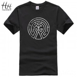 HanHent Westworld Maze Men Cotton T Shirts 2017 New Arrival Short Sleeve O-neck West World Dolores Male Casual T-shirt Top Tees