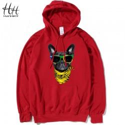 HanHent vogue Dog 2016 Design Thin Hoodies Men Cheap Sweatshirts Tracksuit Men Hood 4XL Fashion Camisa Cool Creative