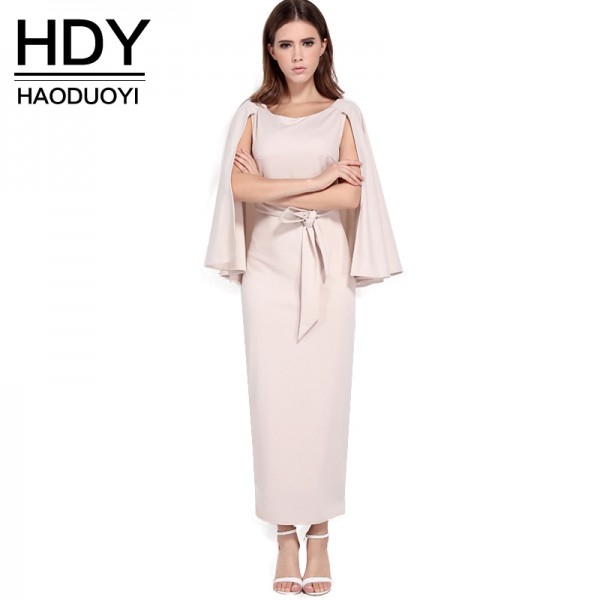 Haoduoyi  Womens 2017 Summer White Backless Sexy Elegant Maxi Dress Party Casual Bodycon Slim Boho Long  Dresses for wholesale