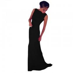 Happy Sailed Women formal maxi long dresses floor length Sleeveless gown Black Blue hot sale 2017 vestido de festa longo 6743