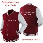 High Quality custom Sweatshirt plain LOGO DIY customized print Casual Sweatshirt Coat Brand Baseball Jacket