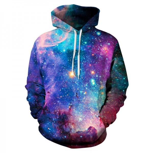 Hoodies men casual sweatshirt men harajuku 3D starry print hoodie fashion harajuku brand clothing streetwear couple pullovers