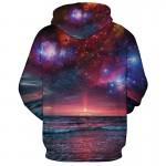 Hoodies men streetwear sweatshirt men harajuku colourful sunrise 3D universe starry hoodie brand clothing casual couple pullover
