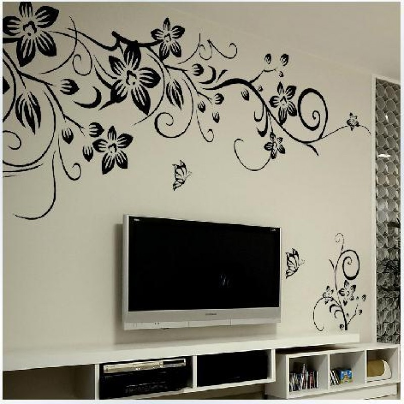 Hot Diy Wall Art Decal Decoration Fashion Romantic Flower Wall