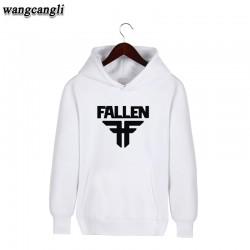 Hot! Fallen Cotton Harajuku Sweatshirt Men Black in High Quality XXL Hooded mens hoodies and sweatshirts 3xl Gray Plus Size Coat