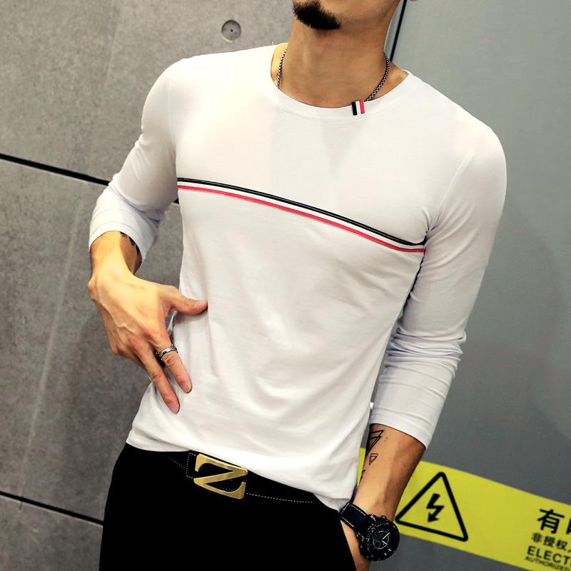 Hot Sale 2017 Autumn Men U0026 39 S T Shirt Fashion Striped Long