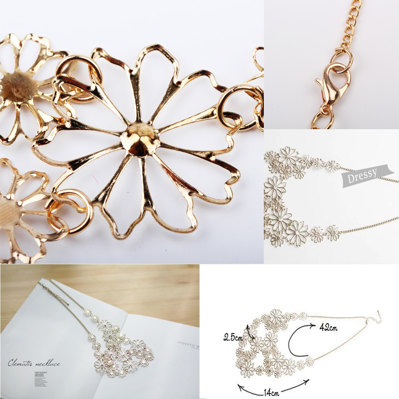Hot sale brand design western style multilayer pendants rhinestone hot sale brand design western style multilayer pendants rhinestone gold color hollow flowers necklace jewelry statement aloadofball Image collections