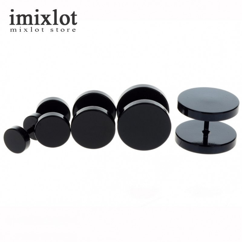 Imixlot 2Pcs 4Colors Surgical Steel Fake Cheater Ear Plugs Gauge