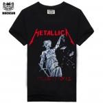 Iron maiden AC DC Metallica The Beatles Nirvana Guns N Roses Rock Black Printed Men's Men T Shirt T-shirt Short Sleeve T shirt