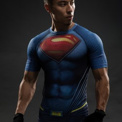 Iron man VS Superman T Shirt Tee 3D Printed T-shirts Men Short sleeve New Cosplay Costume Film Slim Fit Clothing Tops Male