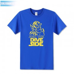 JOIN THE DIVE DARK Underwater Scuba Printed T Shirt Tracksuit For Men Short Sleeve O-Neck T-Shirt Tshirts Dresses For Men Down