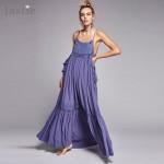 Jastie Sun Drenched Elsewhere Boho Maxi Dress Women Hollow Embroidery Long Dresses Ruffles Hem Vestidos De Fiesta