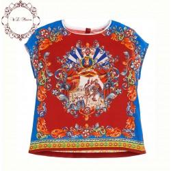 Kids T Shirt Girls Clothes 2016 Summer Brand Girls T Shirt Kids Clothes Carretto Sicillian Girls Tops Tees Children T shirts