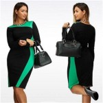 L - 6XL Plus Size Bandage Dress Slim Show ThinThe New Summer/Autumn Elegant Casual Female Dresses Extra Large Hot Sale