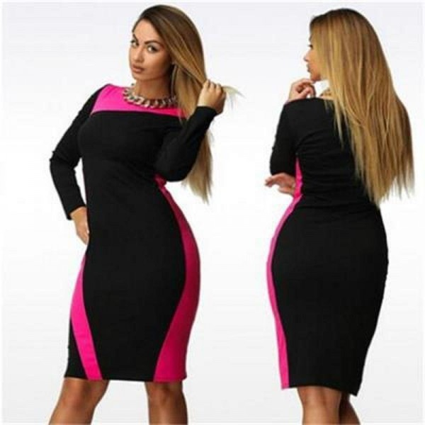 L 6xl Plus Size Bandage Dress Slim Show Thinthe New Summerautumn