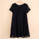 LASPERAL Lace Summer Dresses Women Sexy Short Sleeves Women Dress Casual Round Neck Party Club Wear 2018 Fashion Female Dresses