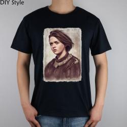 LITTLE GIRL ARYA STARK GAME OF THRONES T-shirt top Lycra cotton Fashion Brand men t shirt high quality