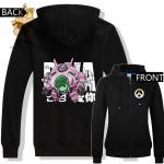 LOVELY cute game character OW watch over DVA costume D.VA hoodies zipper warm hoodies ACG fans Christmas gift ac300