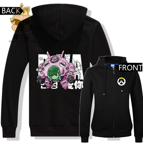LOVELY cute game character OW watch over DVA costume D.VA hoodies zipper warm hoodies ACG fans Christmas gift ac300