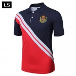 LS Men Polo Shirt Summer New Brand Short Sleeve Collar Polos Cotton Fashion Design Polo Shirt Slim Fit breathable Tops CSL04P