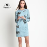 Lace Dress Hollow Out Long Sleeve Spring Summer Designer Runway Womens Dresses
