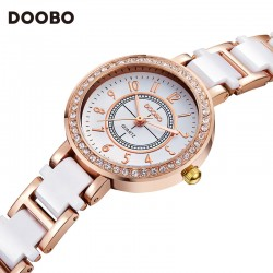 Ladies Fashion Quartz Watch Women Rhinestone Leather Casual Dress Women's Watch Rose Gold Crystal reloje mujer 2017 montre femme