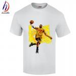 LeBron James T Shirts 2017 Men dunk a man T-Shirt Short Sleeve Cotton Mens tshirt Tops Tee Shirt