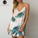 Lily Rosie Girl Off Shoulder Deep V Neck Boho Floral Print Mini Dress Women Summer Beach Sexy Backless Short Dresses Vestidos