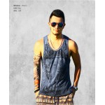 Loose Men Tank Top Casual Fitness Singlets Brand Mens T-Shirt Sleeveless Gasp Hip Hop Vest Elephant Print Cotton Big Size