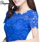 M-5XL Hot sale blusa feminina Plus size Women clothing Summer short sleeve Lace Blouse Shirts Fashion Lace Shirt Lace Tops