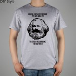 MARXISM COMMUNISM CCCP MARX short sleeve T-shirt Top Lycra Cotton Men T shirt New DIY Style