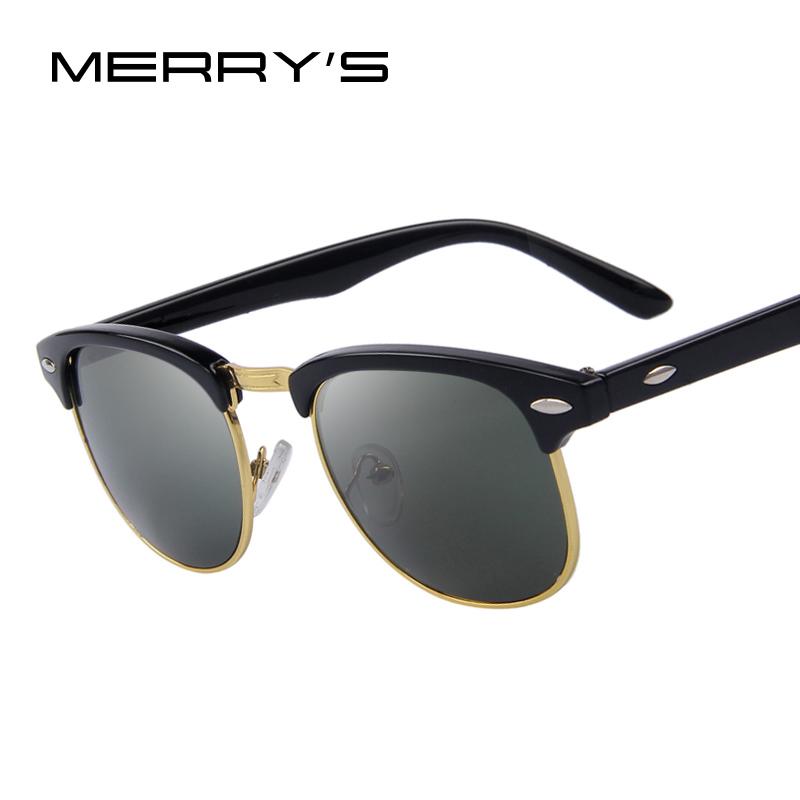 21a386732b MERRY S Fashion Women Retro Rivet Sunglasses Classic Brand Designer Unisex Sunglasses  UV400