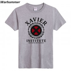 Man's solid printed  Xavier Institute T-shirts join team t-shirts 6.2oz sportswear basic Short Sleeve O neck printed  top tees