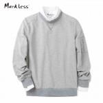 Markless 2017 Spring New Fashion Men Pullover Sweatshirt Men's Original Fit Long Sleeve Pocket Casual Sweatshirt 7406