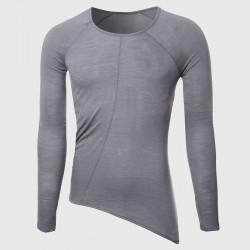 Men Cool Longline T Shirts Cute Oversize Transparent Tee Shirts Male Tall O Neck Tops Designer Hem Plain Pattern Hip Hop Stylish
