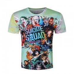 Men Harley Quinn T-shirts 3D Joker Suicide Squad T shirts Funny Movie Skateboard Tops Fashion Short Sleeve Deadshot Men