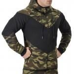 Men LeopardSweatshirt Fashion Autumn Winter Long Sleeve Contrast Color Print zipper Stitching color  HoodedHoodies