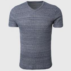Men Plain V Neck T Shirts Waffle Fabric Basic Tee Shirts Luxury Short Sleeve Home Tops Minimalist Styling