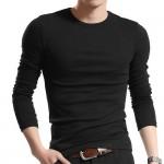 Men T Solid Shirts Fashion 2017 New Fashion Fitness Long Sleeve Tshirts HommeTops&Tees Camisetas Hombre Hip Hop R1058