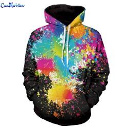 Men Women Fashion Hoodies 3D Printing Bright Color Paint Patterns Cool Sweatshirt For Men Women High Quality Wholesale 1