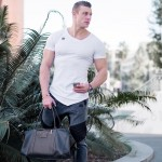 Men summer style Fashion T-shirts Fitness and bodybuilding Slim fit T Shirt Leisure muscle Male Short sleeves clothing Tee Tops