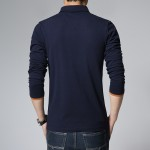 Men's Casual t-shirt Fashion Long Sleeve Solid t Shirts Camisa Masculina tshirt homme Brand clothing Plus size 5XL