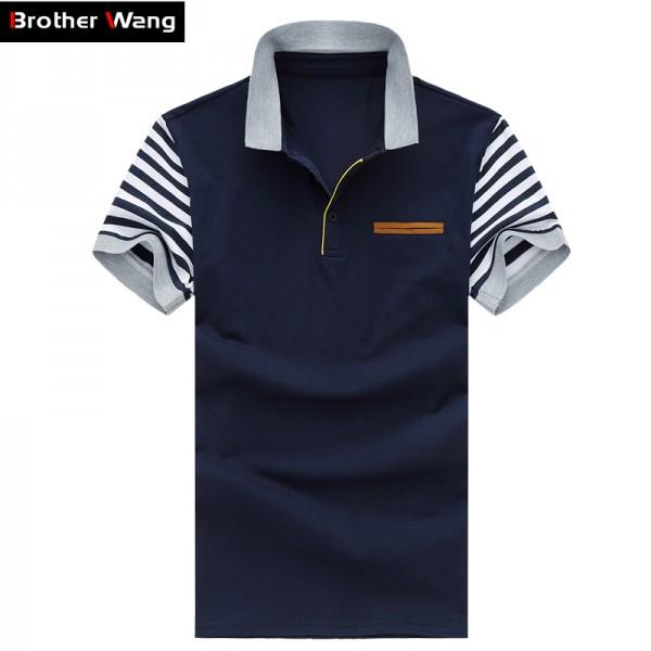 Men's Polo Shirt Style Summer New Men's High-quality Polo Shirt Fashion Leisure Stripe Stitching Cotton Brand POLO Men M-5XL