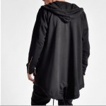Mens Hoodies and Sweatshirts Oversized Hombre Hip Hop Men Hooded Sweatshirt Hoodies Long Section Cardigan Coat Cape Cloak