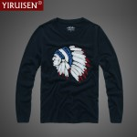 Mens T Shirts Fashion 2017 Hollistic Long Sleeve T Shirt Men AF Brand 100% Cotton O-neck T Shirt Autumn Clothing Casual T-shirt