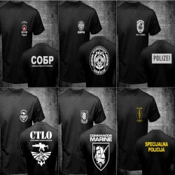 Mens T-shirts Russian Spetsnaz  ATJ LUCKO French GIPN GIGN Navy CTLO Nepal RGR EKO COBRA Austria Police Special Forces T Shirts