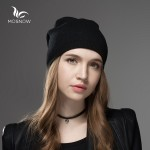 bf345fadfcf Mosnow 2016 New Solid Wool Winter Hats For Women Asymmetrical Knitted Vogue  Brand Casual Warm Hat Female Skullies Beanies